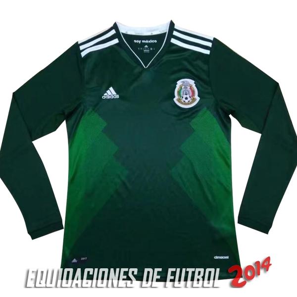 9c78cc7302df1 Camiseta De Mexico de la Seleccion Manga Larga Primera 2017. Loading zoom.  Descuento