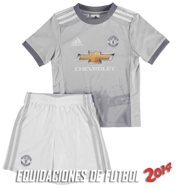 Camiseta Del Conjunto Completo Manchester United Nino Tercera Equipacion  2017 2018 c6ececccc9b74