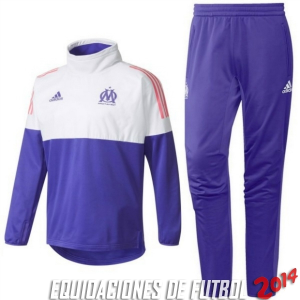 Chandal Ninos Marseille Purpura Blanco 2017/2018