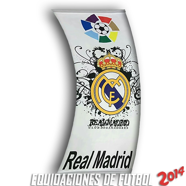Futbol Bandera de Real Madrid 2018 Blanco