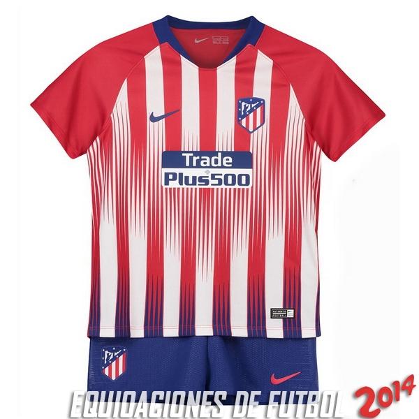 6af8395382323 Camiseta Del Conjunto Completo Atletico Madrid Nino Primera Equipacion  2018 2019