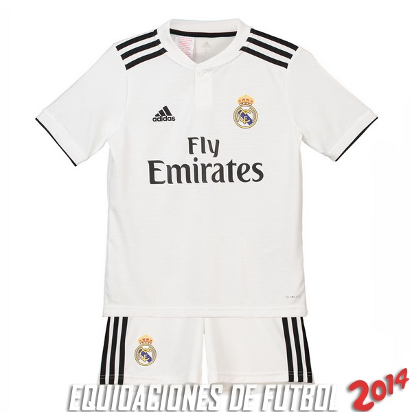 Camiseta Real Madrid Conjunto Completo Ninos Primera 2018-2019 3f4a53594c755