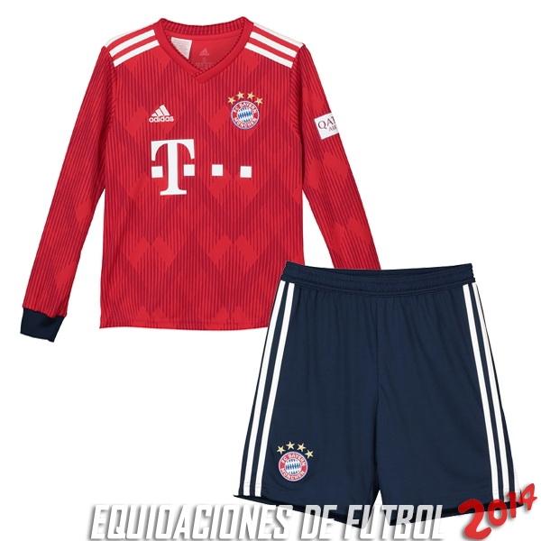 Camiseta Del Conjunto Completo Manga Larga Bayern Munich Nino Primera  Equipacion 2018 2019 27c8e9ea9e5