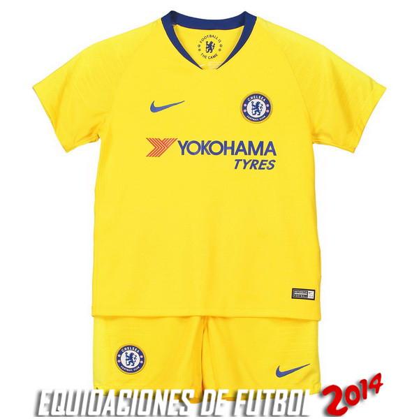 Camiseta Del Conjunto Completo Chelsea Nino Segunda Equipacion 2018 2019 3f766e660da38
