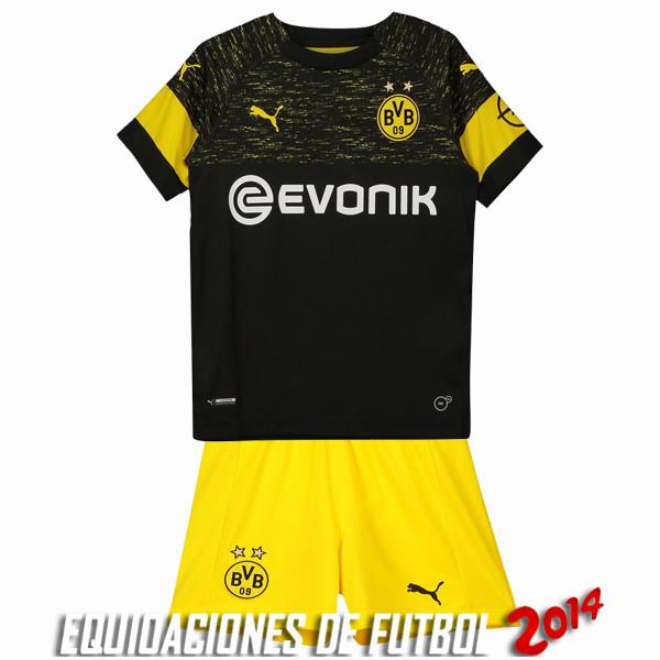 3a0ddb4448707 Camiseta Borussia Dortmund Conjunto Completo Nino Segunda Equipacion 2018  2019