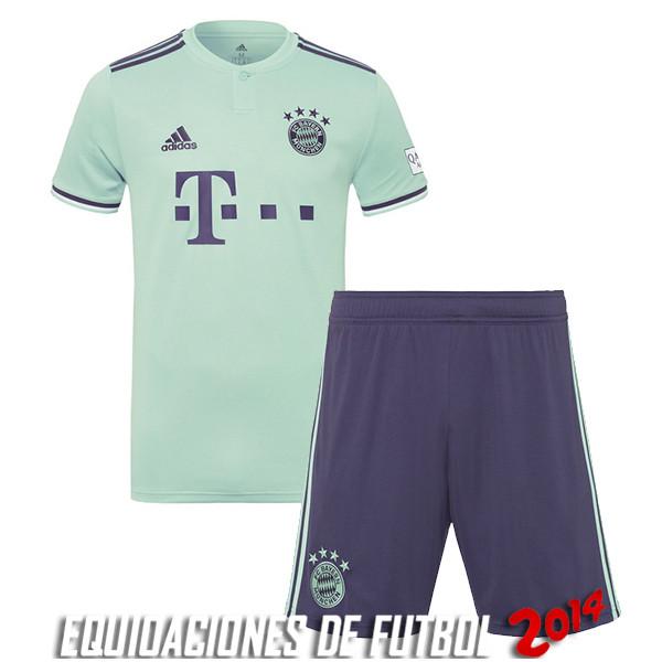 Camiseta Del Conjunto Completo Bayern Munich Nino Segunda Equipacion 2018  2019 3a59af16f0ca3