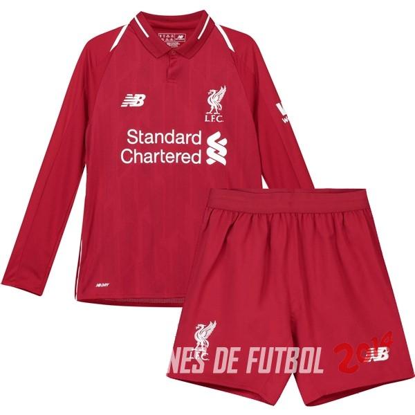 Camiseta Del Conjunto Completo Manga Larga Liverpool Nino Primera  Equipacion 2018 2019 a0b6be7b04870