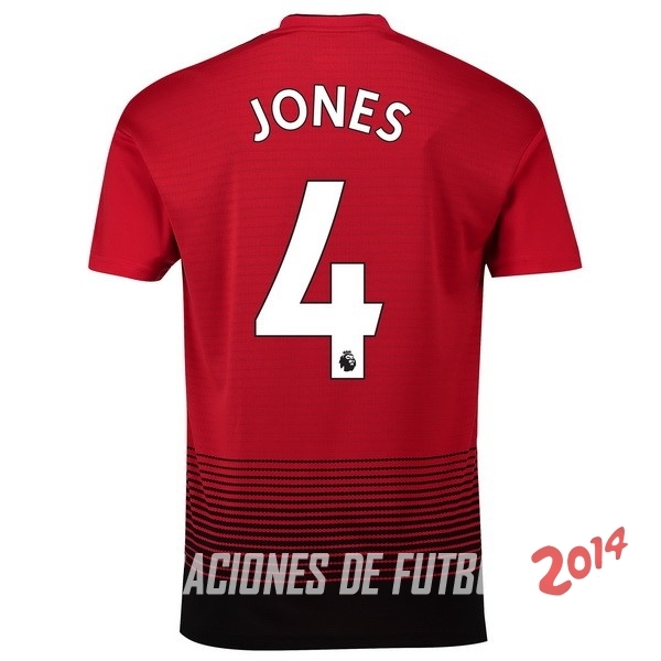 NO.4 Jones de Camiseta Del Manchester United Primera Equipacion 2018/2019
