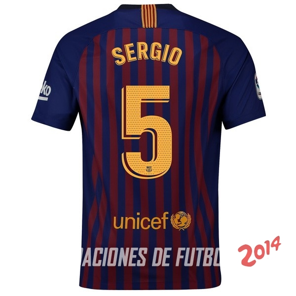 NO.5 Sergio de Camiseta Del Barcelona Primera Equipacion 2018 2019 fa7bc5194eaa9