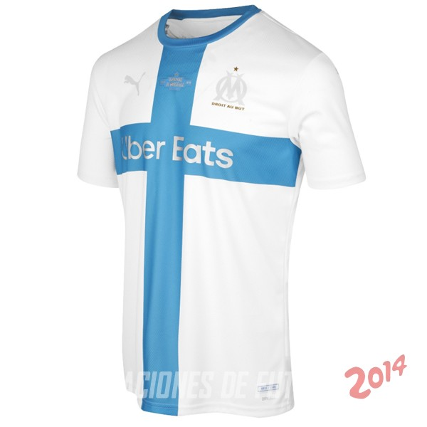 Camiseta Del Camiseta Marsella 120th Azul Blanco