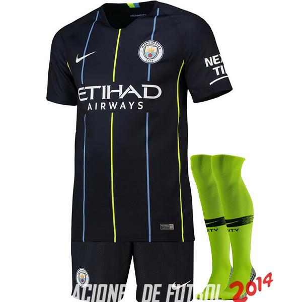 8b4f64f7c04f4 Camiseta (Pantalones+Calcetines)Del Manchester City Segunda 2018 2019