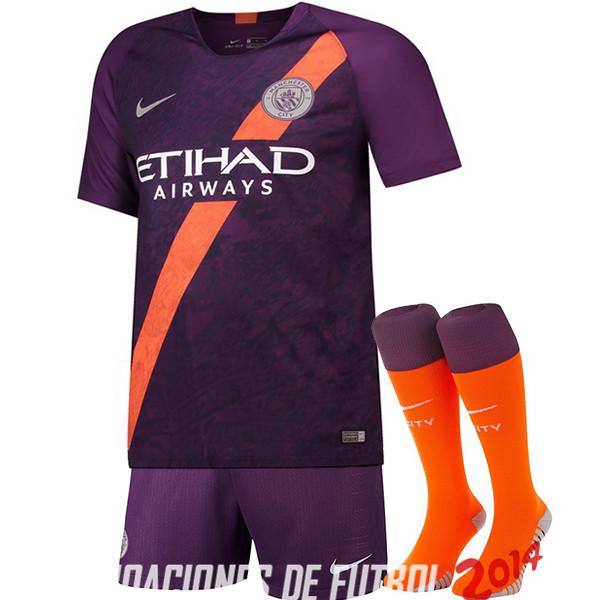 c300b7743a8f5 Camiseta (Pantalones+Calcetines)Del Manchester City Tercera 2018 2019