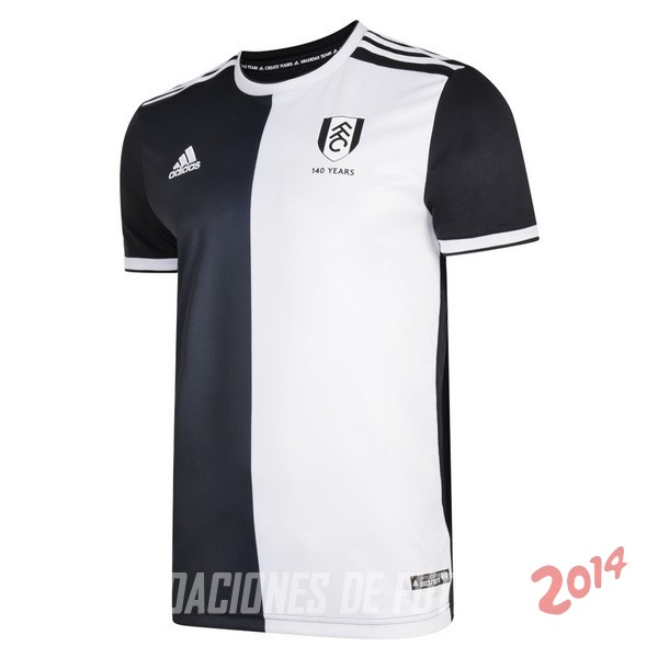 Camiseta Del Fulham 140th Negro Blanco